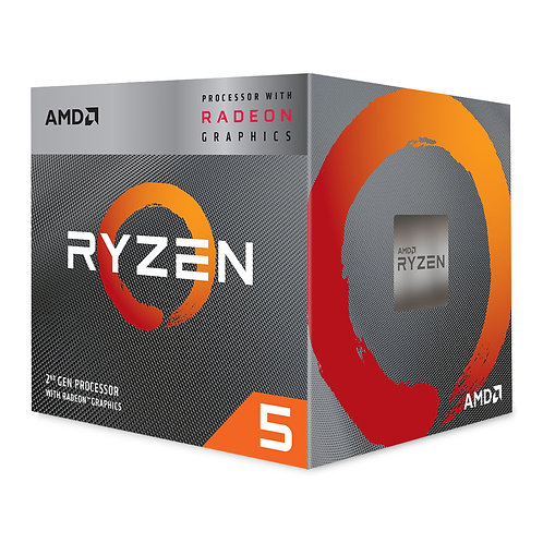 AMD Ryzen 5 3400G VEGA Graphics AM4 CPU with Wraith Spire Cooler