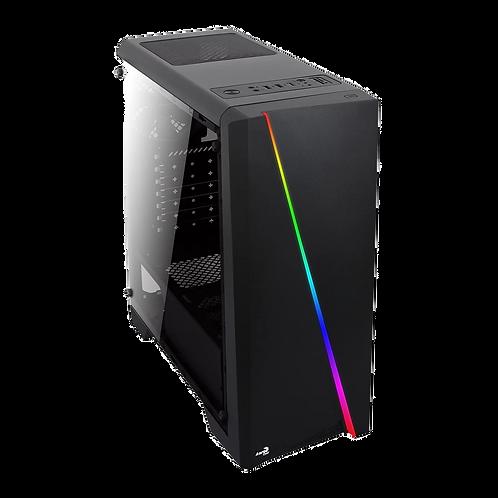 Aerocool Cylon Black RGB LED Tempered Glass RGB Mid Tower Case