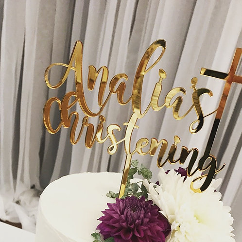 Custom: Name Christening with Cross :Water Font