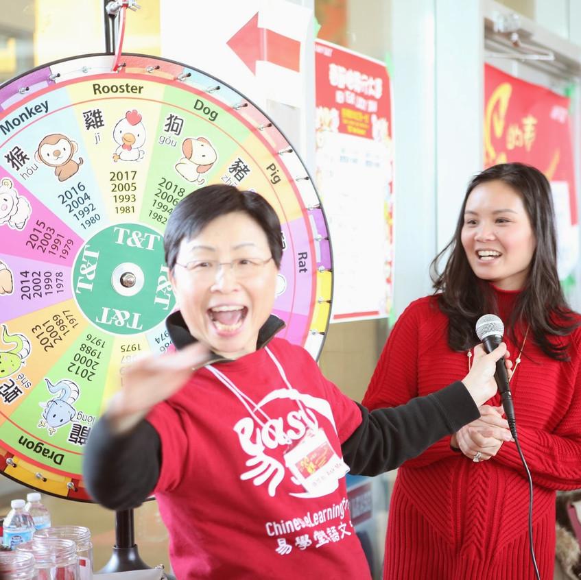 大統華總裁摸出幸運者。