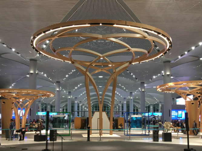 Steel Trees at Istanbul Airport