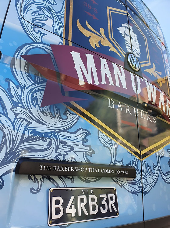 Man o' War Barbers mobile barber shop Mornington Peninsula
