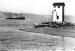 First Browns Point Lighthouse (Steamer in Background)