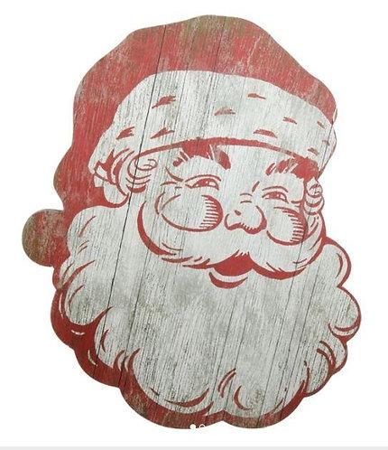 Wooden Santa Wall Hanging