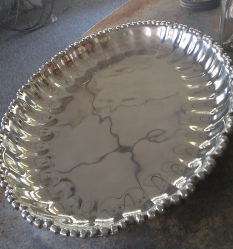 Plated Serving Plate