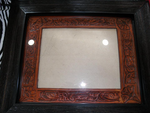 Tooled, Leather, picture frame