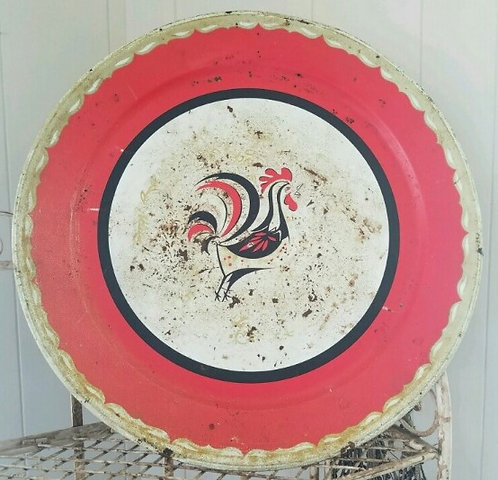 Large Rooster Plate