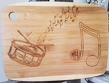 Engraved, wooden, cutting board