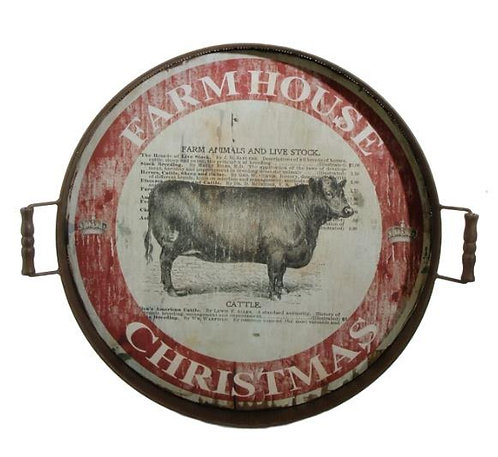 Christmas Cow Tray