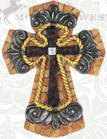 Silver & Rope Cross
