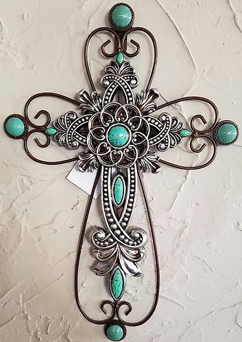 Silver & Turquoise on metal Frame