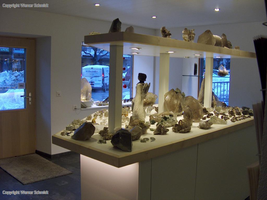 Kristallfunde Ausstellung bei den Schwei
