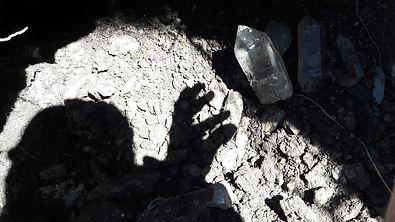 © Kristalle & Mineralien Kristallkluft von Werner Schmidt in den Walliser Bergen