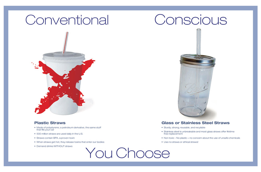 Conventional to Conscious Straws
