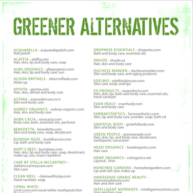 Greener Alternatives