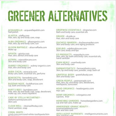 Greener Alternatives