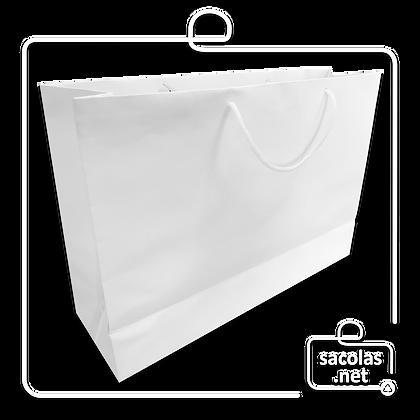Sacola Branca 27 x 40 x 12 cm (AxLxP) - pacote com 50 unidades