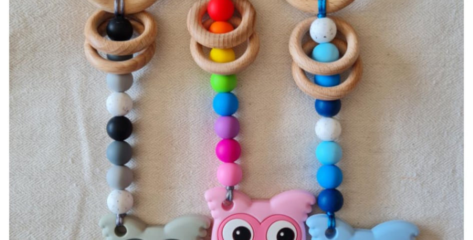 Owl Teether Toy Rattle