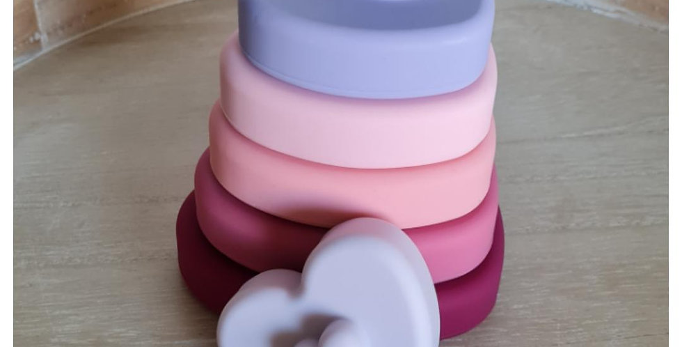 Silicone Stacking Toy - Heart