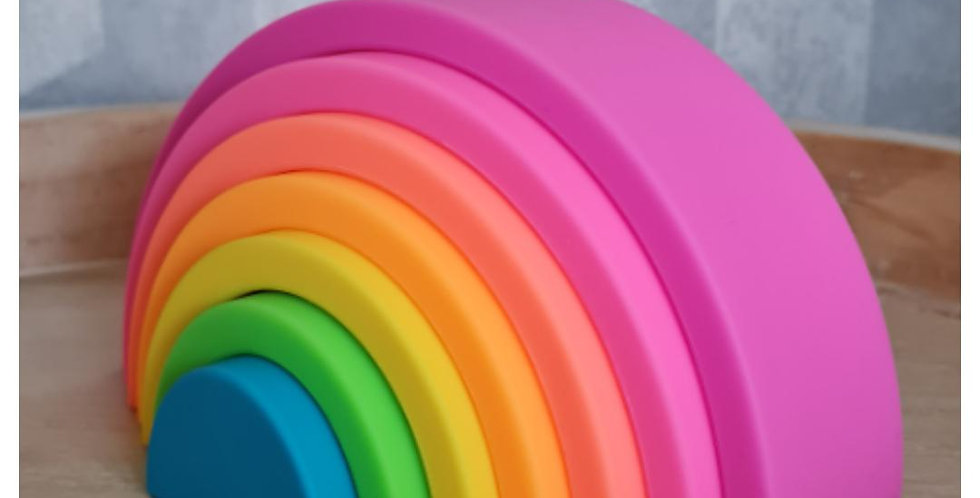 Silicone Rainbow Stacking Toy - Small