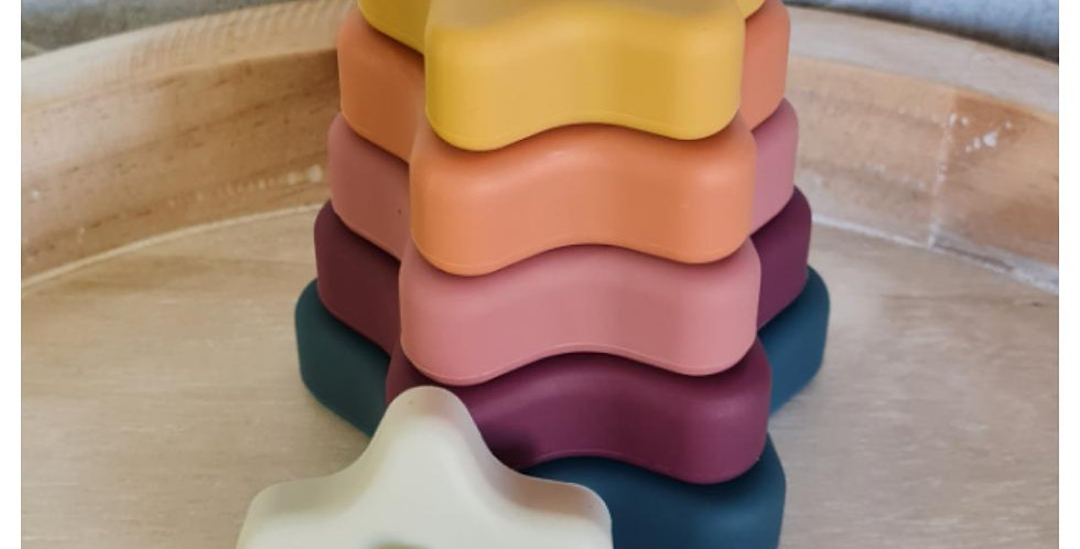 Silicone Stacking Toy - Star