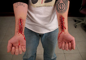 special FX lacerations, bloody wounds, Amy Wilkins