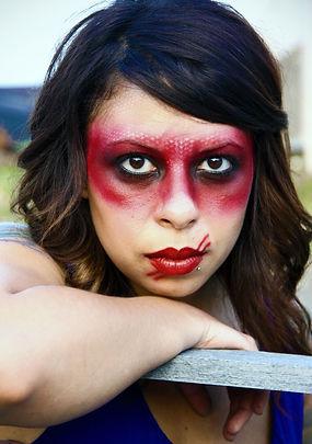 Dramatic fashion makeup, Amy Wilkins