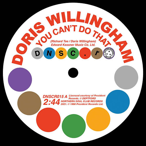 Doris Willingham 'You Can't Do That' (Deptford Northern Soul Club)