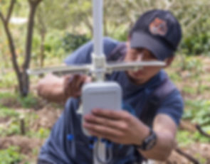 Installing the NEXO agricultural weather station