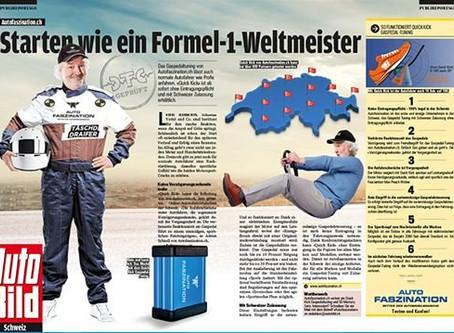 Gaspedal Tuning von Autofaszination in AUTO BILD Schweiz.