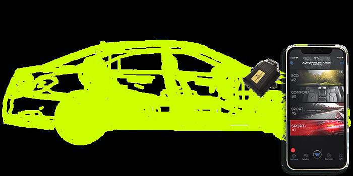 Auto mit Chiptuning und Tuning App