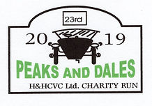 Peaks & Dales 2019 Car Club Charity Run, H & H CVC, HHCVC