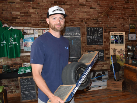 Two NH businesses help electric skateboard pick up momentum