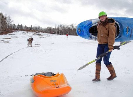 I rode backwards down a ski hill in a kayak. On Saturday, you can too.