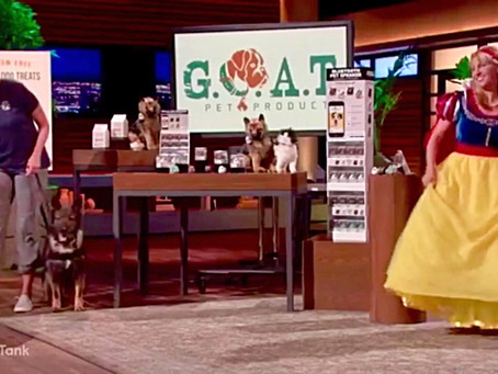G.O.A.T. PET PRODUCTS APPEARING ON SHARK TANK January 14, 2018