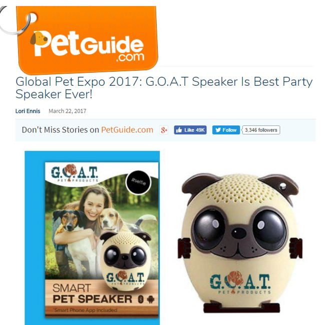 http://www.petguide.com/blog/dog/global-pet-expo-2017-g-o-a-t-speaker-is-best-party-speaker-ever/