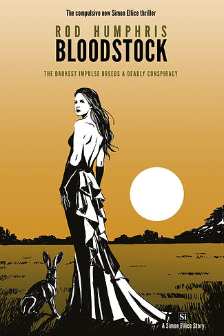 The cover of Bloodstock by Rod Humphris, book 3 in the Simon Ellice Series of literary adventure thrillers.