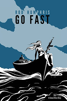 The cover of Go Fast by Rod Humphris, book 1 in the Simon Ellice Series.