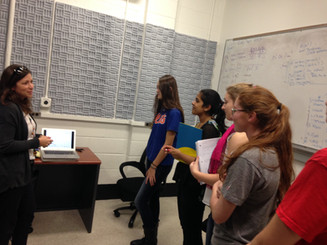Women in Engineering lab tour, 2015