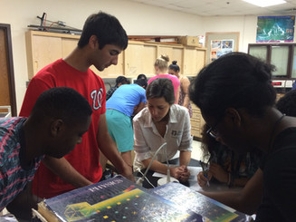 Solar cell lab at Eleanor Roosevelt HS, 2015