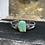 Thumbnail: Jude Candelaria sterling silver tufa cast leaf Bracelet