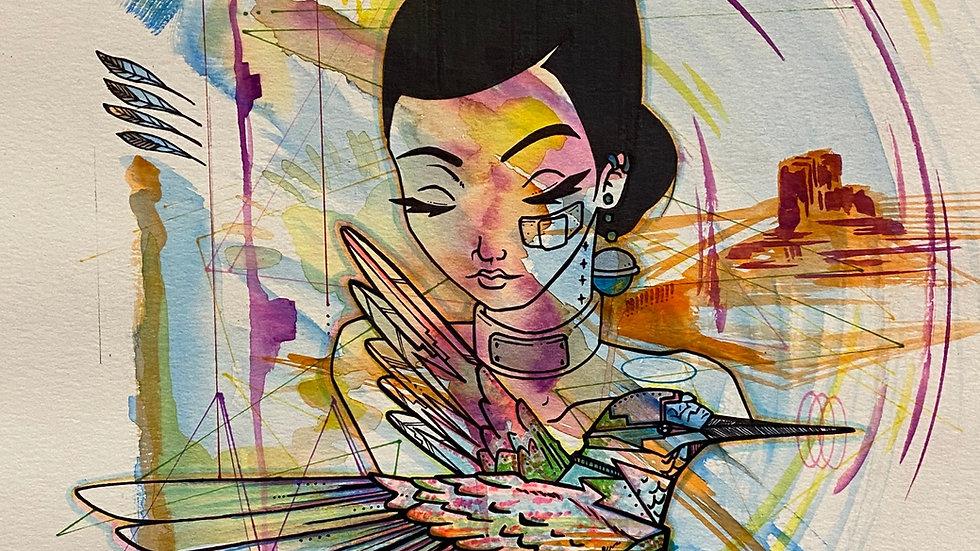 Artist Damien Jim Untitled 3 11''x14'' PRINT