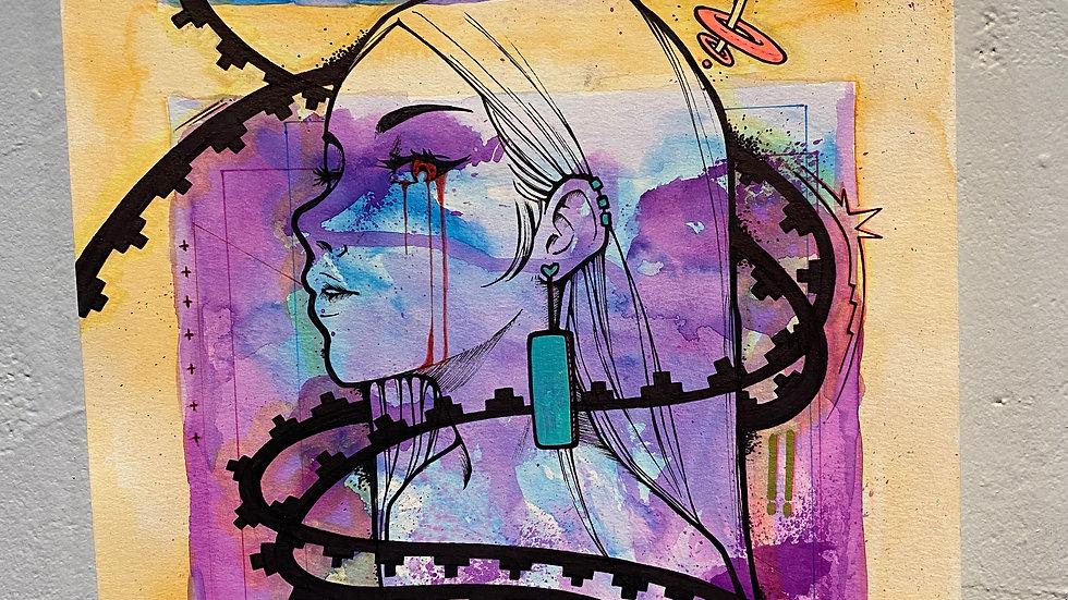 Artist Damien Jim Untitled 2  11''x14'' PRINT