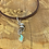 Thumbnail: Jude Candelaria sterling silver cast spiral pendent w/ Kingman Turquoise