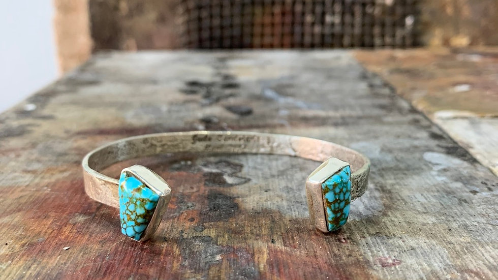 Reverse cuff w/top shelf kingman turquoise