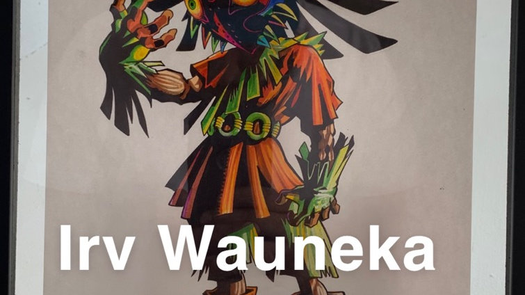 Artist Irv Wauneka- Skull Kid (print)
