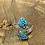 Thumbnail: Jude Candelaria Sterling silver Tufa Cast adjustable ring with kingman web Turq