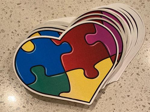 AU Heart Sticker