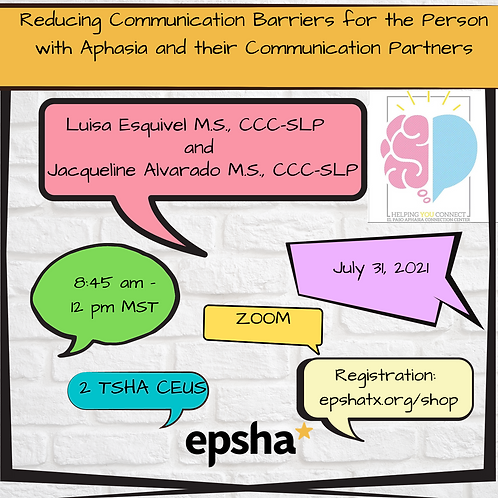 Reducing Communication Barriers: Aphasia