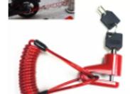 Bloqueo de ruedas de freno de disco antirrobo con alambre de acero